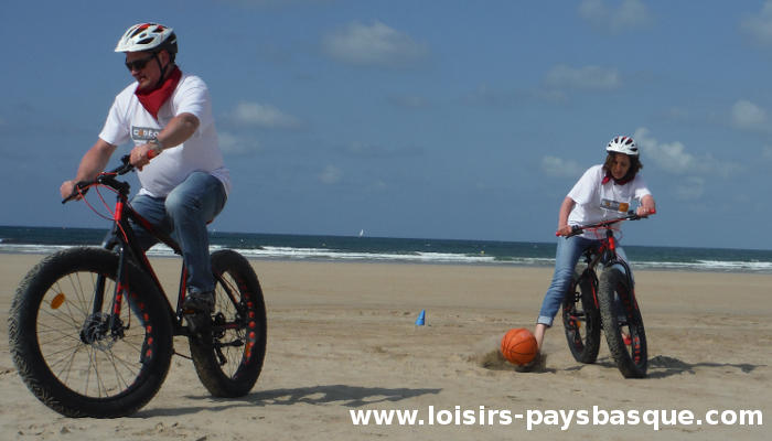 Fat bike - Foot plage sable